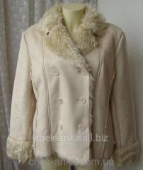Дубленка женская модная теплая нарядная бренд