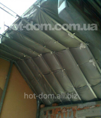 Mansard heaters, systems for warming of houses and