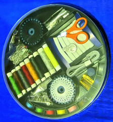 Gift set for sewing in a round box org.015.rish.