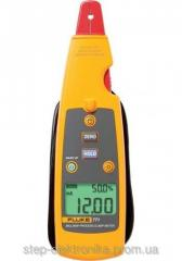 The calibrator multimeter with pincers for