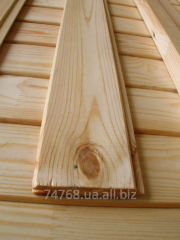 Pine dry edged boards