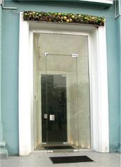 Входные группы из стекла, двери входные