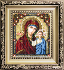 Set for an embroidery the Kazan icon of the Mother