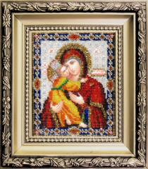 Set for an embroidery the Vladimir icon of the