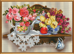 Set for an embroidery the Flower romance of NND