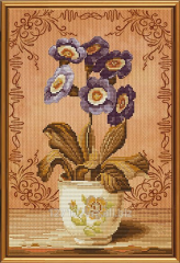 Set for an embroidery the Gentle primrose of NND