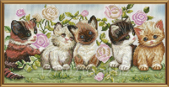 Set for an embroidery Kittens of NND 4063