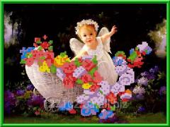 Рисунок-схема  Ангел в лесу КБА - 4001