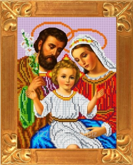 Set for an embroidery the Holy family of