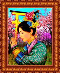 Drawing scheme the Chinese woman of KBL - 3003