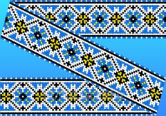 The scheme for an embroidery Preparation for