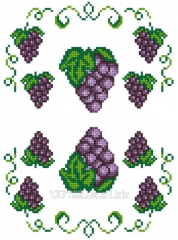 The scheme for an embroidery Grapes. Preparation