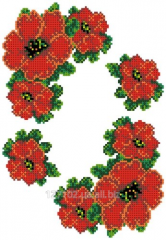 The scheme for an embroidery Poppies-1.