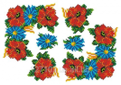 The scheme for an embroidery Poppies and