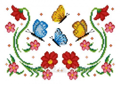 The scheme for an embroidery Flowers and