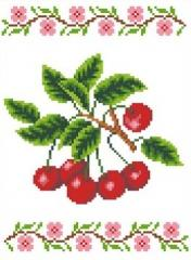 The scheme for an embroidery Cherry. Flizelin