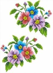 The scheme for an embroidery Flowers-1. Flizelin