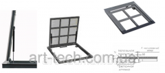 The hatch floor on gas shock-absorbers 600х600