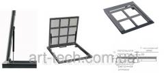 The hatch floor on gas shock-absorbers 1000х1200