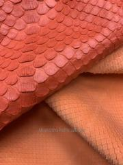 Cords leather. Leather of a python (stomach).