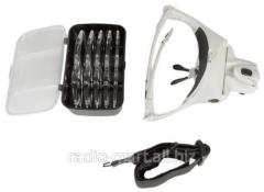 Magnifying glass cosmetology with illumination