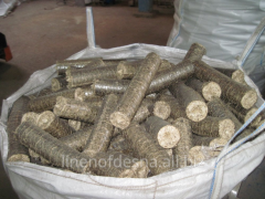 Fuel briquettes from Nestro flax fires