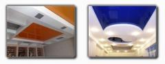 Потолки подвесные натяжные, Натяжные потолки