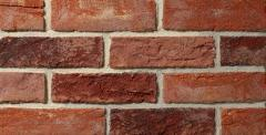 Brick brick and tile of manual molding from
