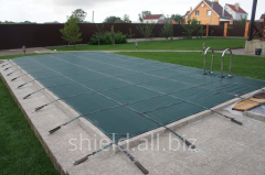 Winter cover for swimming pools