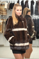 Fur coats from natural fur