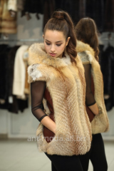 Fur coats from natural fur, fox