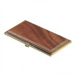 Metal case for business cards