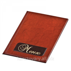 Folder of the A4 MENU, two-color, Panta Plas