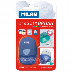 Eraser and brush of CAPSULE in one produc