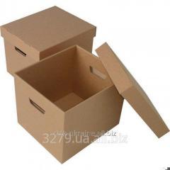 Картонный архивный бокс (короб) 430х350х360 мм