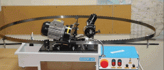 Full-height borazone sharpening for tape saws of
