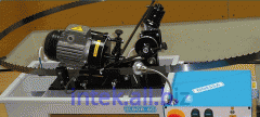 Tool-grinding the machine for tape saws with a