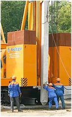 Сваевдавливающая установка строительная