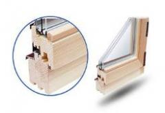 We make wooden windows only from wood of strong