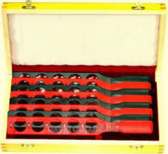 Set of ophthalmologic trial eyeglass lenses