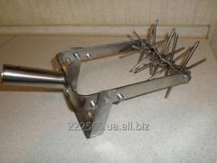 Manual cultivator the HEDGEHOG a stainless steel