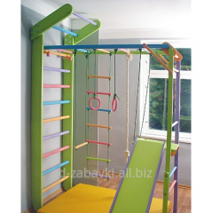 Уголок Лиана и Детский игровой спортивный комплекс цветные