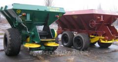 Spreader of MVU fertilizers
