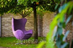 Chairs in a garden, garden chairs of Arne Jacobsen