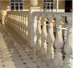 Rail-posts from white marble. The production