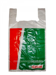 Plastic bag with the loopback handle