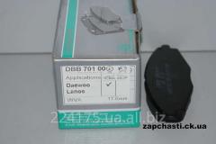 Тормозные колодки DAEWOO LANOS 1,5 (DBB 701 00 )
