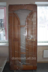 Doors are entrance, installation of a wooden door,