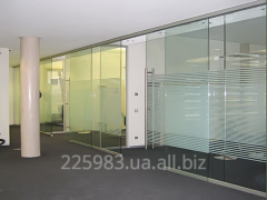 Partitions are glass sliding