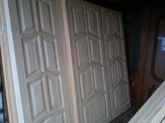 Двери деревянные неокрашенные, коробки оболонь Героев Днепра Киев, Двери деревянные